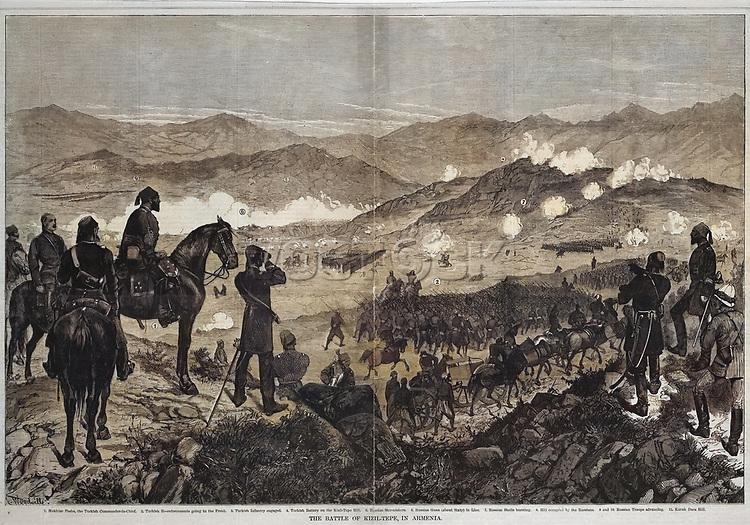 The Battle of Kizil-Tepe on June 25, 1877.