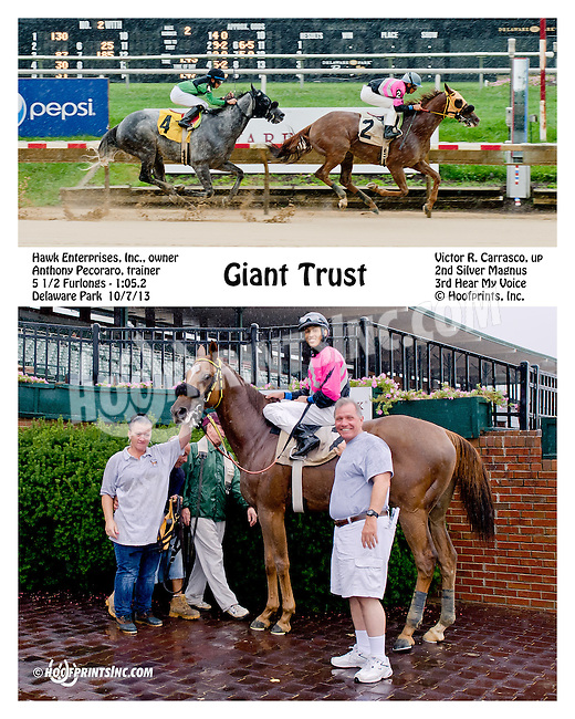Giant Trust winning at Delaware Park on 10/7/13