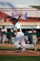 Clinton LumberKings designated hitter Martin Peguero (7) at bat during a game against the Burlington Bees on August 20, 2015 at Community Field in Burlington, Iowa.  Burlington defeated Clinton 3-2.  (Mike Janes/Four Seam Images)