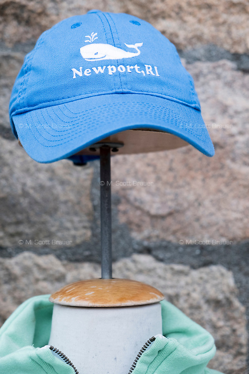 """A hat with a whale reading """"Newport, RI"""" was on display for sale outside a souvenir shop in Newport, Rhode Island, on Wed., April 19, 2017."""