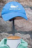 "A hat with a whale reading ""Newport, RI"" was on display for sale outside a souvenir shop in Newport, Rhode Island, on Wed., April 19, 2017."