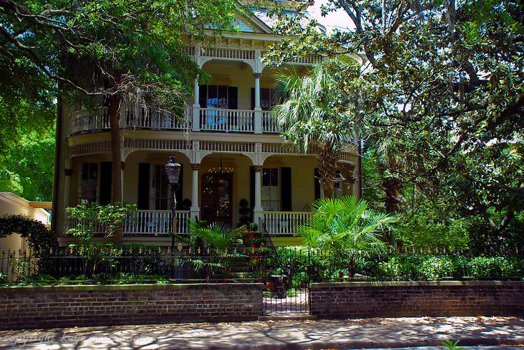 Savannah Historical House by Forsyth Park