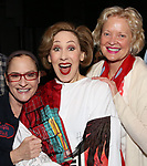 Patti Lupone, Joanna Glushak and Christine Ebersole during the Actors' Equity Gypsy Robe honoring Joanna Glushak for 'War Paint' at the Nederlander Theatre on April 6, 2017 in New York City