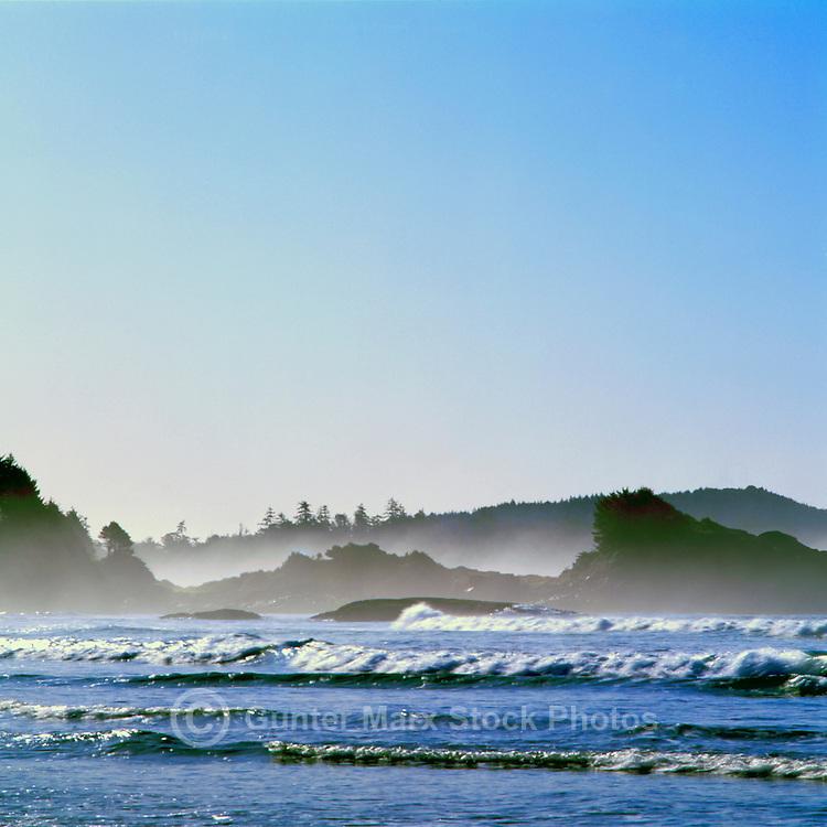 Chesterman Beach in Morning Mist, near Tofino, BC, Vancouver Island, British Columbia, Canada