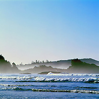 Chesterman Beach in Morning Mist, near Tofino, BC, Vancouver Island, British Columbia, Canada