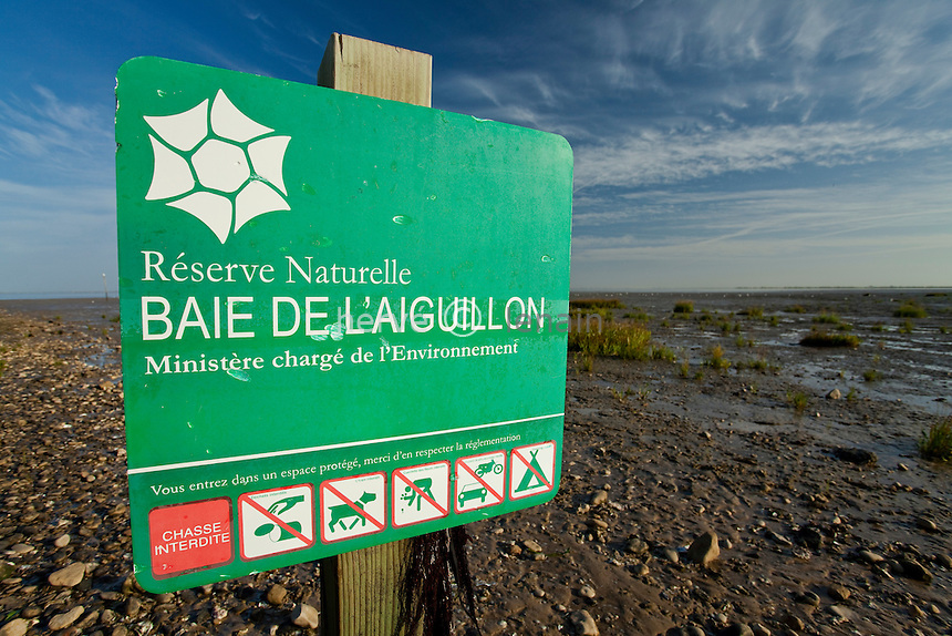 France, Charente-Maritime (17), réserve naturelle nationale de la baie de l'Aiguillon ou anse de l'Aiguillon // France, Charente Maritime, national nature reserve of the Bay of Aiguillon