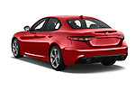 Car pictures of rear three quarter view of 2018 Alfa Romeo Guilia Auto 4 Door Sedan angular rear