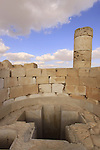 Isarael, Negev, Avdat, built in the 1st century by the Nabateans. A world Heritage Site as part of the Spice Route, the Baptistery by the Northern Church