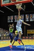 GRONINGEN - Basketbal, Donar - ZZ Leiden, Martiniplza, Halve finale NBB beker, seizoen 2018-2019, 13-02-2019, Donar speler Thomas Koenes score