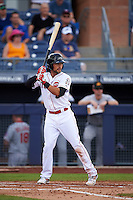 Peoria Javelinas second baseman Alex Blandino (15) at bat during an Arizona Fall League game against the Mesa Solar Sox on October 21, 2015 at Peoria Stadium in Peoria, Arizona.  Peoria defeated Mesa 5-3.  (Mike Janes/Four Seam Images)