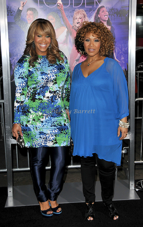"Tina Atkins-Campbell and a pregnant Erica Atkins-Campbell ""Mary Mary"" at the premiere of Joyful Noise held at Grauman's  Chinese Theatre in Hollywood, CA. January 9, 2012"