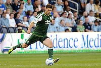 Eric Brunner (5) defender Portland Timbers in action... Sporting Kansas City defeated Portland Timbers 3-1 at LIVESTRONG Sporting Park, Kansas City, Kansas.