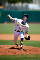 Montgomery Biscuits relief pitcher Tyler Brashears (19) delivers a pitch during a game against the Mississippi Braves on April 25, 2017 at Montgomery Riverwalk Stadium in Montgomery, Alabama.  Mississippi defeated Montgomery 3-2.  (Mike Janes/Four Seam Images)