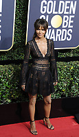 www.acepixs.com<br /> <br /> January 7 2018, LA<br /> <br /> Halle Berry arriving at the 75th Annual Golden Globe Awards at The Beverly Hilton Hotel on January 7, 2018 in Beverly Hills, California.<br /> <br /> By Line: Peter West/ACE Pictures<br /> <br /> <br /> ACE Pictures Inc<br /> Tel: 6467670430<br /> Email: info@acepixs.com<br /> www.acepixs.com