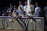 The High Point Panthers bench watches from the dugout during the game against the NJIT Highlanders at Williard Stadium on February 19, 2017 in High Point, North Carolina. The Panthers defeated the Highlanders 6-5. (Brian Westerholt/Four Seam Images)