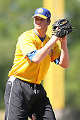 April 17, 2009:  Pitcher Sean West of the Jacksonville Suns, Southern League Class-AA affiliate of the Florida Marlins, during a game at the Baseball Grounds of Jacksonville in Jacksonville, FL.  Photo by:  Mike Janes/Four Seam Images