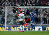 01.03.2015.  London, England. Capital One Cup Final. Chelsea versus Tottenham Hotspur. Tottenham Hotspur's Christian Eriksen hits the crossbar with an early free kick.