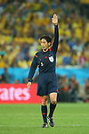 Yuichi Nishimura (Referee), <br /> JUNE 12, 2014 - Football /Soccer : <br /> 2014 FIFA World Cup Brazil <br /> Group Match -Group A- <br /> between Brazil 3-1 Croatia <br /> at Arena de Sao Paulo, Sao Paulo, Brazil. <br /> (Photo by YUTAKA/AFLO SPORT)