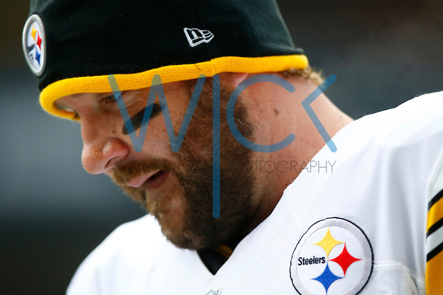 Ben Roethlisberger #7 of the Pittsburgh Steelers looks on during warm ups prior to the game against the Seattle Seahawks at CenturyLink Field on November 29, 2015 in Seattle, Washington. (Photo by Jared Wickerham/DKPittsburghSports)