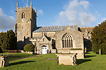 Historic village parish church of Saint Michael and All Angels, Urchfont, Wiltshire, England, UK Vale of Pewsey