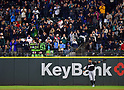 Ichiro Suzuki (Marlins),<br /> APRIL 19, 2017 - MLB :<br /> Fans including &quot;Ichi-Meter&quot; inventor Amy Franz applaud Ichiro Suzuki of the Miami Marlins as he takes to the field during the Major League Baseball game against the Seattle Mariners at Safeco Field in Seattle, Washington, United States. (Photo by AFLO)
