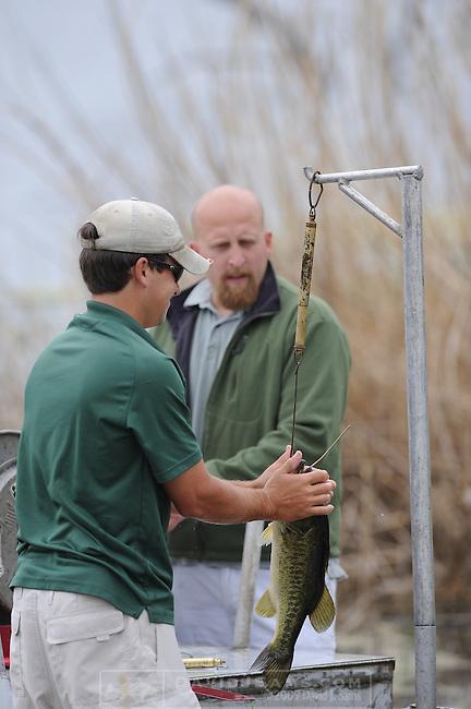 LARGEMOUTH BASS FISHING.pond management fishing  Big Hill Ranch Texas.Electro shocking boat.John Jones Lochow Ranch pond and lake managment.