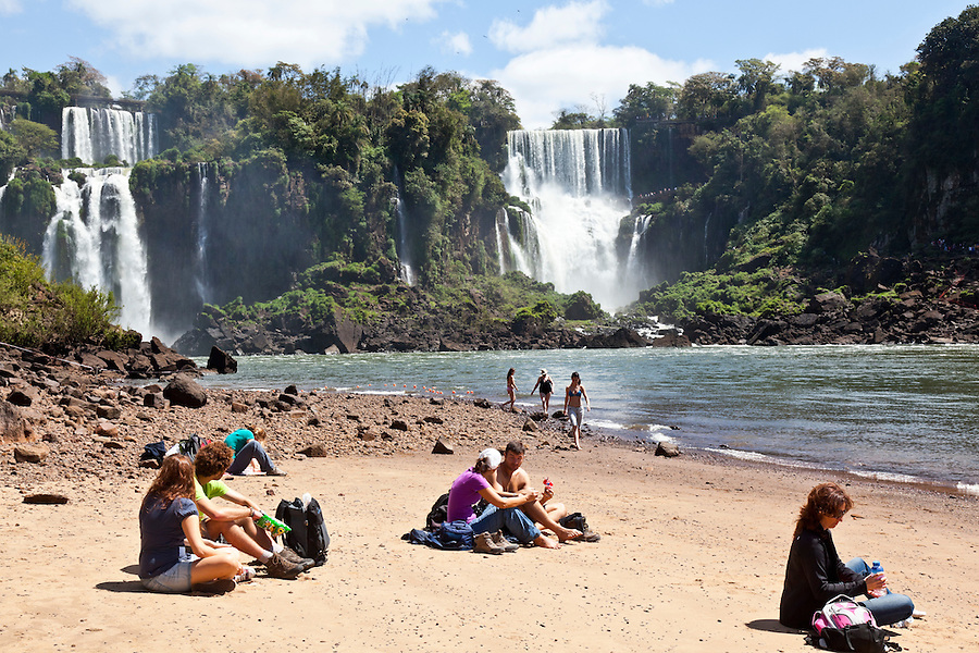 Iguazu falls as seen from the province of Misiones, Argentina.