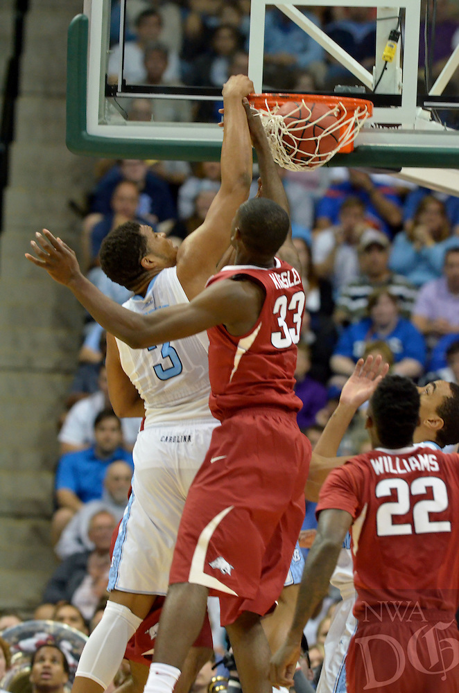 NWA Democrat-Gazette/Michael Woods --03/21/2015--w@NWAMICHAELW... University of Arkansas vs North Carolina during Saturdays game in the 2015 NCAA basketball tournament at Jacksonville Veterans Memorial Arena in Jacksonville, Florida.