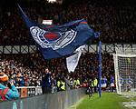 05.02.2020 Rangers v Hibs: Rangers flagbearers as Ianis Hagi scores to win the match