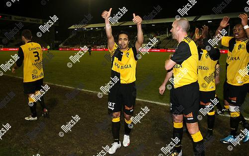 2010-03-17 / Voetbal / seizoen 2009-2010 / R. Antwerp FC - SK Lierse / Mohamed Abdel Wahed groetd e Lierse supporters..Foto: Mpics