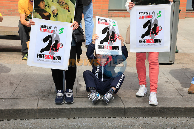At the protest for Gaza in West street.<br /> Picture: www.newsfile.ie