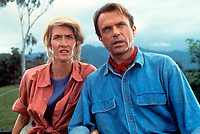 Jurassic Park (1993)<br /> Sam Neill &amp; Laura Dern<br /> *Filmstill - Editorial Use Only*<br /> CAP/KFS<br /> Image supplied by Capital Pictures