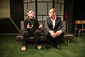 London, UK. 17.03.2014. SJC Productions, in association with Jermyn Street Theatre, presents SATAN SINGS MOSTLY SONDHEIM, a comedy by Adam Long. Picture shows Adam Long (as Satan) and Mark Caven (as Satan's manager, Robert Schifrin). Photograph © Jane Hobson.