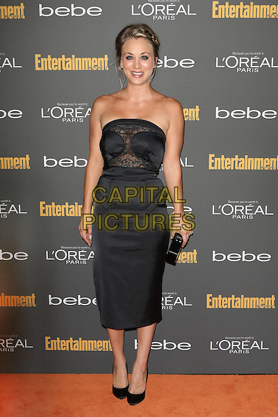 Kaley Cuoco<br /> 2013 Entertainment Weekly Pre-Emmy Party held at Fig &amp; Olive Melrose Place, West Hollywood, California, USA, <br /> 20th September 2013.<br /> full length strapless black dress lace sheer clutch bag <br /> CAP/ADM/MPI<br /> &copy;MediaPunch Inc./AdMedia/Capital Pictures