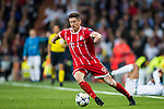 Robert Lewandowski of FC Bayern Munich in action during the UEFA Champions League Semi-final 2nd leg match between Real Madrid and Bayern Munich at the Estadio Santiago Bernabeu on May 01 2018 in Madrid, Spain. Photo by Diego Souto / Power Sport Images