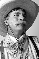 "cowboy 7/25/09- David ""Catfish"" Harris, 47, of Peoria, participated in Saturday's Wyatt Earp-Holliday Mustache Contest held at the Goldfield Ghost Tow in Apache Junction. The contest was held during their celebration for National Day of the Cowboy. (Pat Shannahan/ The Arizona Republic)"