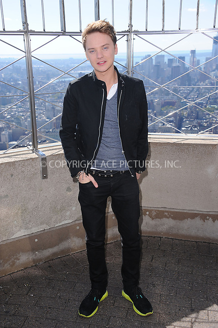 WWW.ACEPIXS.COM . . . . . .October 16, 2012...New York City....Conor Maynard visits the observatory at the Empire State Building on October 16, 2012 in New York City ....Please byline: KRISTIN CALLAHAN - ACEPIXS.COM.. . . . . . ..Ace Pictures, Inc: ..tel: (212) 243 8787 or (646) 769 0430..e-mail: info@acepixs.com..web: http://www.acepixs.com .