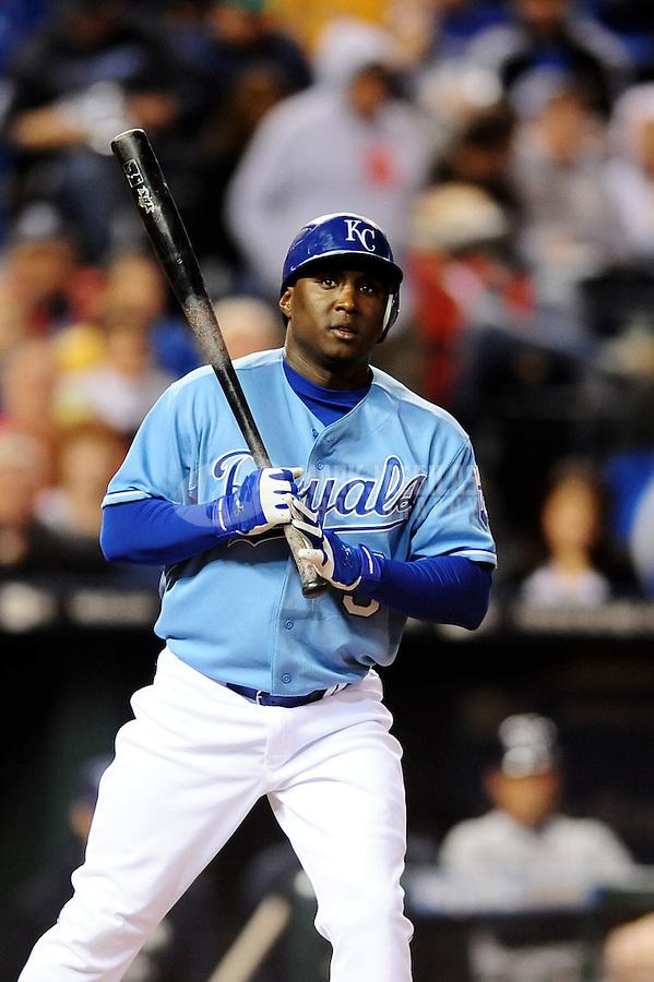 Oct. 2, 2010; Kansas City, MO, USA; Kansas City Royals shortstop Yuniesky Betancourt against the Tampa Bay Rays at Kauffman Stadium. Mandatory Credit: Mark J. Rebilas-