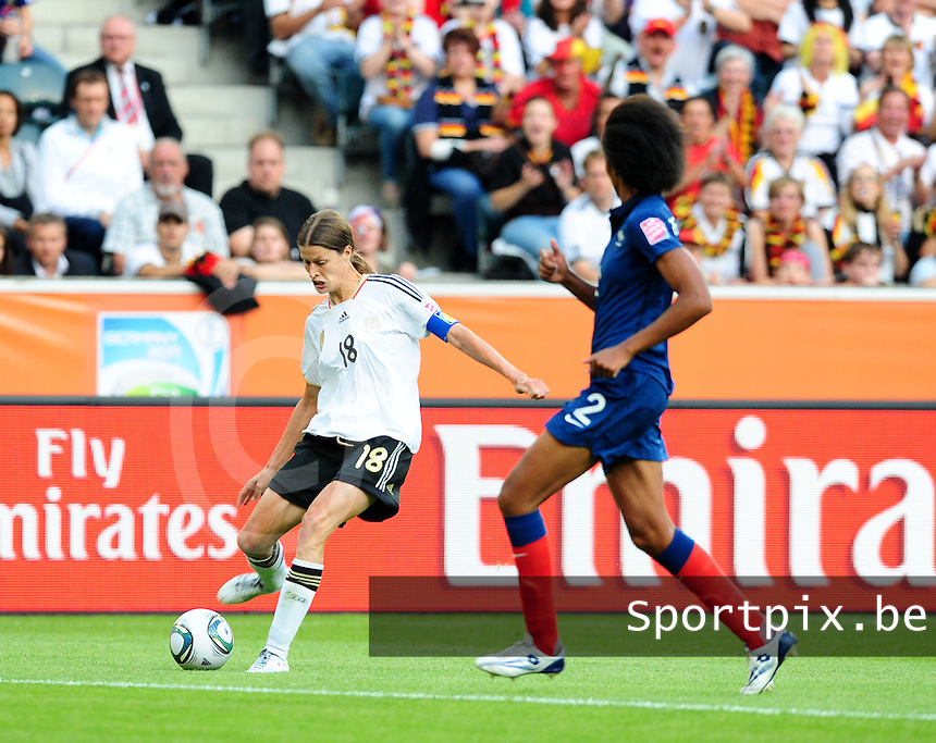 Fifa Women's World Cup Germany 2011 : France - Germany ( Frankrijk - Duitsland ) at Munchengladbach World Cup stadium : Kerstin GAREFREKES.foto DAVID CATRY / Vrouwenteam.be
