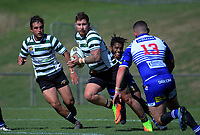 Action from the 2019 Swindale Shield Wellington club rugby match between Norths and Old Boys University at Jerry Collins Stadium in Porirua, Wellington, New Zealand on Saturday, 30 March 2019. Photo: Dave Lintott / lintottphoto.co.nz
