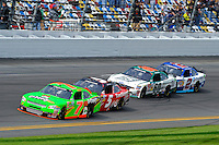 Danica Patrick (#7), Dale Earnhardt, Jr. (#5), Trevor Bayne (#60) and Elliott Sadler (#2)