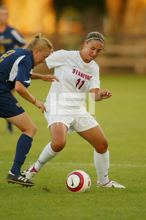 22 August 2005: Martha West during a scrimmage against UC Davis at Maloney Field in Stanford, CA.