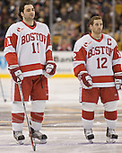 Dan Spang, Brad Zancanaro - The Boston University Terriers defeated the Boston College Eagles 2-1 in overtime in the March 18, 2006 Hockey East Final at the TD Banknorth Garden in Boston, MA.