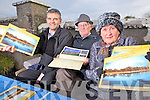 Members of The Tarbert Historical & Heritage Society, Mike Houlihan, Michael Brogan and Marie Collins, who launched their 2012 calender last Monday in Kilnaughton Burial Ground, Tarbert.