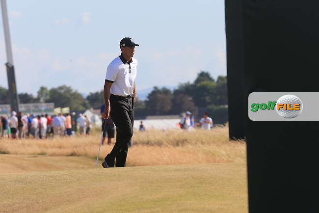 Tiger WOODS (USA) during round one of  The 142th Open Championship Muirfield, Gullane, East Lothian, Scotland 18/7/2013<br /> Picture Eoin Clarke www.golffile.ie: