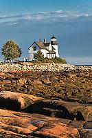Prospect Harbor Light, Prospect Harbor Point, Winter Harbor, Maine, ME, USA