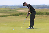 Marc Norton (Belvoir Park) on the 1st green during Round 2 of the East of Ireland Amateur Open Championship 2018 at Co. Louth Golf Club, Baltray, Co. Louth on Sunday 3rd June 2018.<br /> Picture:  Thos Caffrey / Golffile<br /> <br /> All photo usage must carry mandatory copyright credit (&copy; Golffile | Thos Caffrey)