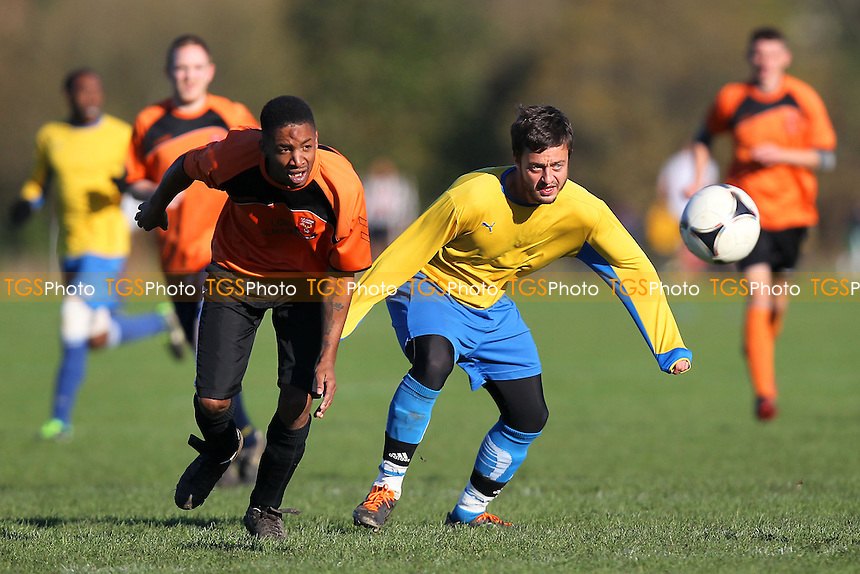 FC Walthamstow (orange) vs Jay Cubed - Hackney & Leyton Sunday League Jack Walpole Cup Football at South Marsh, Hackney Marshes, London - 10/11/13 - MANDATORY CREDIT: Gavin Ellis/TGSPHOTO - Self billing applies where appropriate - 0845 094 6026 - contact@tgsphoto.co.uk - NO UNPAID USE