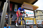 French National Champion Arnaud Demare (FRA) FDJ at sign on in Dusseldorf before the start of Stage 2 of the 104th edition of the Tour de France 2017, running 203.5km from Dusseldorf, Germany to Liege, Belgium. 2nd July 2017.<br /> Picture: Eoin Clarke | Cyclefile<br /> <br /> <br /> All photos usage must carry mandatory copyright credit (&copy; Cyclefile | Eoin Clarke)