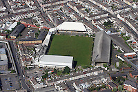 Aerial view of the Vetch Field football ground, former home ground of Swansea City FC